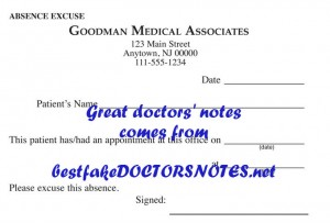 be confident using a doctor's note